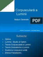 Teoria Corpusculara a Luminii