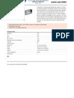 62001 Letter Opener Spec Sheet