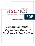 Reports in Depth- Expiration Book of Business Production