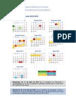 2012 Calendario Escolar 2012-2013 Con Res