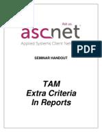 Extra Criteria in Reports