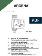 Manual Programador Gardena t14 1820