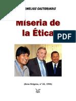 Cornelius Castoriadis Miseria de La Etica