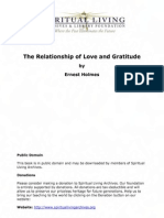 The Relationship of Love and Gratitude by Ernest Holmes