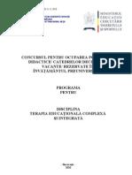 Terapia Educationala Complexa Si Integrata Programa Titularizare 2010-6650