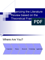 Organizing the Literature Review based on the Theoretical Framework