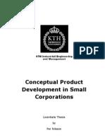 Conceptual Product Development