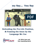 "Propaganda from the National Right to ""Life"" Committee"