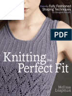 Candace's Shell From Knitting the Perfect Fit by Melissa Leapman