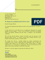 Letter of Notification for ICANN for Applying for Delegation of Dotafrica TLD- Chairman ICANN