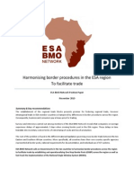 Harmonising Border Procedures - Position Paper