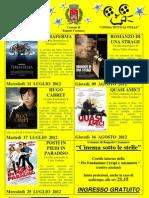 Estate 2012 - Locandina Cinema Sotto Le Stelle