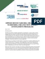 Joint Letter House Draft Farm Bill 7-10-2012 Final