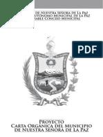 Proyecto de Carta Orgánica del Municipio de La Paz - 2012