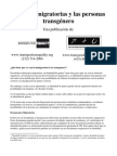 Immigration Law - Spanish Fact Sheet