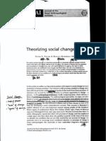 Theorising Social Change - Dwyer & Minnegal