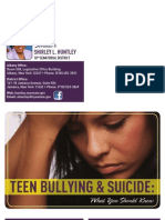 Teen Bullying & Suicide Brochure