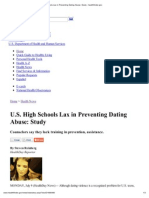U.S. High Schools Lax in Preventing Dating Abuse_ Study - Healthfinder
