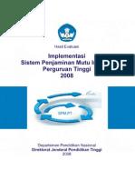 Buku Evaluasi SPMI-PT 2008