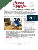 How to Slide in Softball 2012