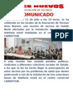 Comunicado Reunion Dia 10 de Julio Antenas