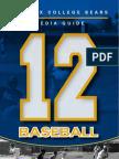 2012 PC Mens Baseball Media Guide
