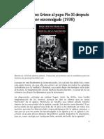 99687116 Carta de Franz Griese Al Papa Pio XI Despues de Ser Excomulgado 1938