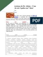 Dieta das proteínas do Dr