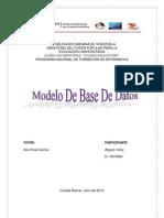 Modelo De Base De Datos vicky