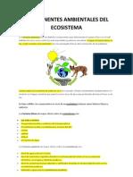 Componentes Ambientales Del Ecosistema