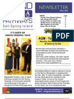 Island Pathways Newsletter Fall 2011