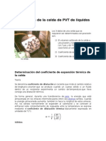 Calibración de la celda de PVT de líquidos