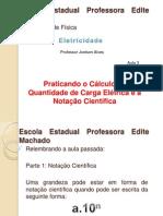 AULA 3 - Exercícios sobre Eletricidade - Quantidade de Carga Elétrica