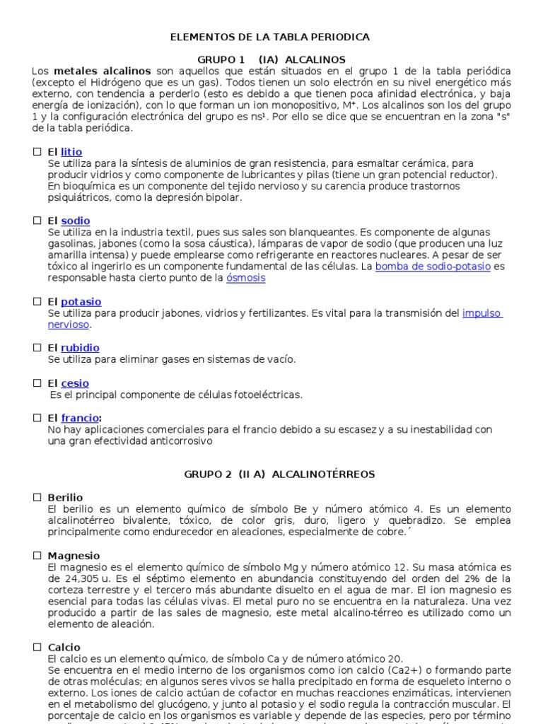 1524106087v1 - Tabla Periodica De Los Elementos Para Que Sirve