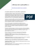 Convergências e diferenças entre a gestão pública e a gestão