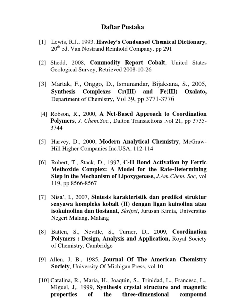 Daftar Pustaka Coordination Complex Inorganic Chemistry