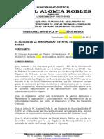 REGLAMENTO DE ORGANIZACIÓN Y FUNCIONES DE JUNTAS VECINALES COMUNALES DE DIST. DANIEL ALOMIA ROBLES