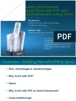 RIAs With PHP and Zend Framework Using Ajax Webinar