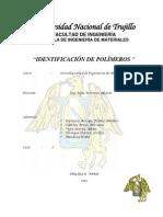 PRACTICA IDENTIFICACIÓN DE POLÍMEROS