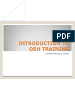 Introduction to Osha Training