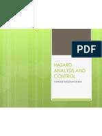 Hazard Analysis and Control