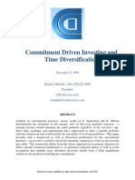 Commitment Driven & Time Diversification