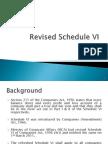 Revised Schedule VI