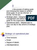 Module II Planning