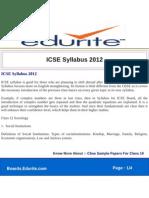ICSE Syllabus 2012