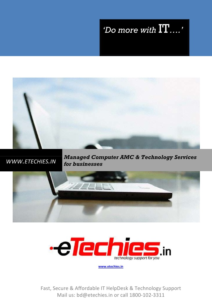 E Brochurecomputer Amc Tech Support From Www Etechies In Online