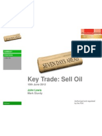 Key Trade SELL OIL 18th June 2012