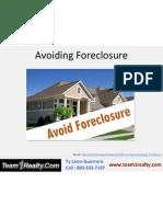 Avoiding Foreclosure - Ty Leon Guerrero of Team1Realty Fairfield CA
