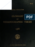 Glossary of Oceanographic Terms 1966