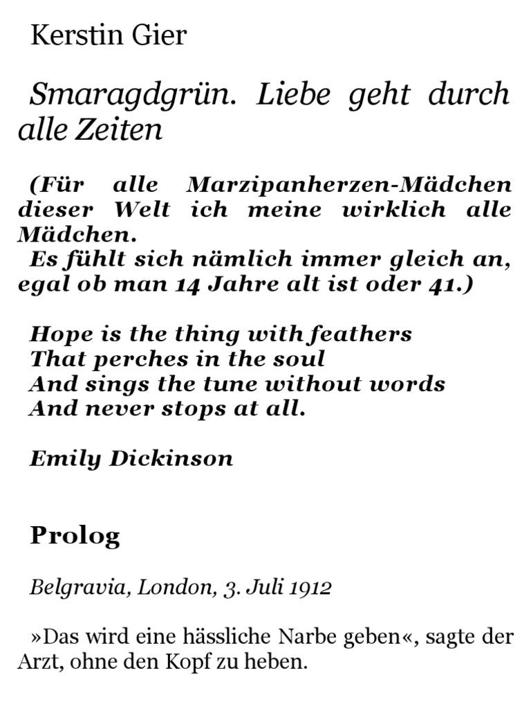 Kerstin Gier   Liebe Geht Durch Alle Zeiten 3   Smaragdgr++n (6 Zoll)
